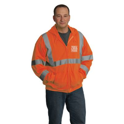 Hi-Vis ANSI Class 3 Shirt-Hooded Sweatshirt