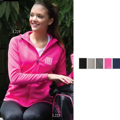 Ladies' ATC (TM) PTech (TM) Fleece Hooded Jacket
