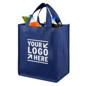 0dd8fee05e 13 W x 14-1 2 H Large Imprint Smooth Shopping Tote Bag